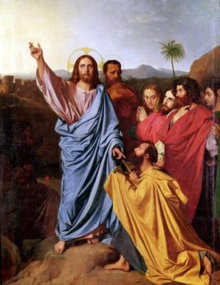 SchlossHeld Jesus, Petrus und Schlüssel
